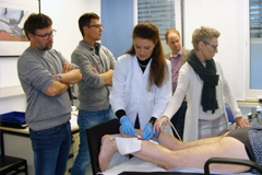 Hands-on Sklerosiere im Praxiskurs